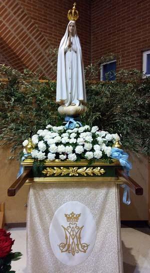 Visita de la imagen peregrina de la Virgen de Fátima