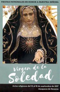 """Fiestas patronales """"Virgen de la Soledad"""""""