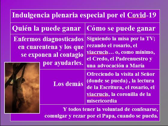 Indulgecia plenaria Covid19