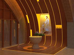 Obras en el templo